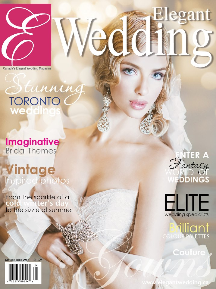 elegant wedding magazine cover winter 2012/spring 2013